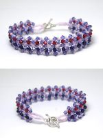 Swarovski Crystal Beaded Bracelet by kokito85