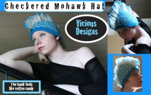Checkered Mohawk Hat by fashionisartuwear