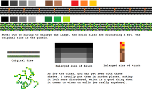 Pixel Dungeon Walls Tutorial/Reference by cobebear