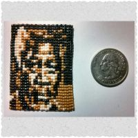 Morgan Freeman Beaded by ravenarcana