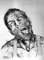 Zombie Self Portrait 2012 by Trashe-Trav