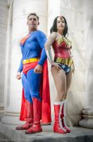 Superman and Wonder Woman @ Dragon*Con 2015 by greglarro