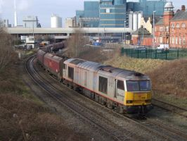 DB Schenker 60099 at Warrington (February 2013) by DaveOnTheRails