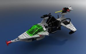 LEGO 6891 Gamma-V Laser Craft by zpaolo