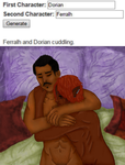 Ferralh and Dorian - Cuddling by Lainpinky131