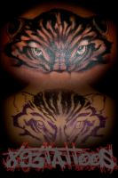 cover-up tiger by gil893tattoos