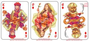 Playing card deck: diamonds by sparrow-chan