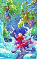 Dragons Watercolors by Morgan-chane