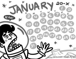 JANUARY 20X calendar by TRAVALE