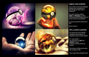 Realistic Pokeball GIVEAWAY (FINISHED) by Jonathanjo