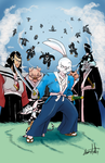 Usagi Yojimbo donation art (colors) by SoVeryUnofficial