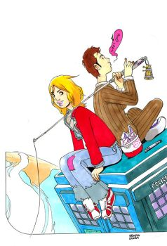 The Doctor and Rose by royalboiler
