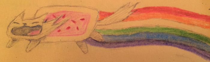 Nyan Cat Full Awesome by RebelWolficorn