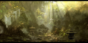 Jungle Scene by Narandel
