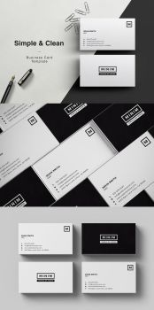 Minim - Simple Clean Business Card by madebyarslan