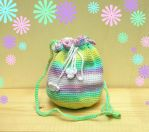 Cute little girls crochet shoulder bag purse by YANKA-arts-n-crafts