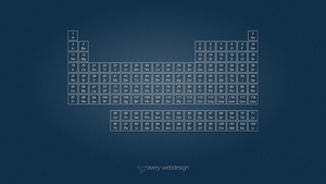Periodic Table Denim Wallpaper in Blue by averywebdesign