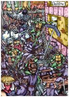 TMNT: City at War Pin-Up by ArseniyDubakov