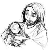 Jesus and the Children by sketchinthoughts