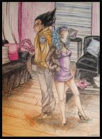 Bulma and Vegeta again 2 by RedEyed2