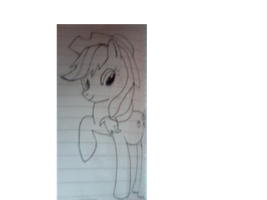 ~Uncoloured Applejack Drawing~ by StarCatcherZ