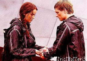 Katniss and Peeta Taking The Berries by DistrictPotter13