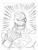 DC Super Heroes: Cyborg Superman - cover pencils by TimLevins