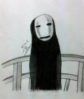 'No Face' Spirited Away by TinyTinaa