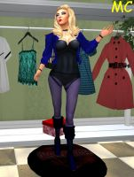 Black Canary As A Hypnotized Mannequin by The-Mind-Controller