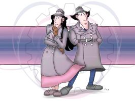 IG-Inspector Gadget and Gadget girl by JustLynnWeav