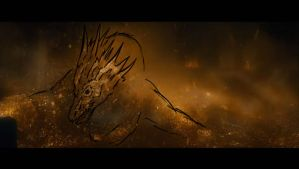 Smaug's Movie Form, Roughly by kaijukid