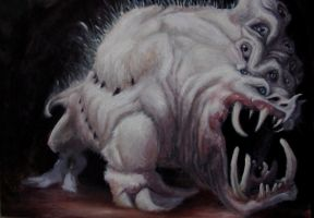 White beast, 2011- oil on canvas by YemaYema