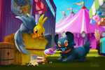 Grendel and Rivers by TsaoShin