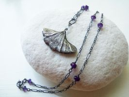 Custom Ginkgo Pendant and Necklace by QuintessentialArts