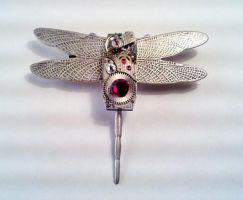 Dragonfly Steampunk Brooch by SteamDesigns