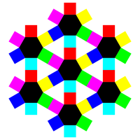 hexagons and squares snowflake by 10binary