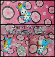 Animal Crossing - Ed the Horse Charm - Handmade by YellerCrakka