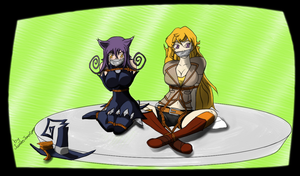 Yang and  Blair In Distress (tape) by JameesJokerGreen