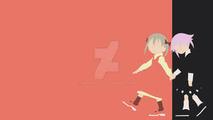 Soul Eater - Maka and Chrona vector wallpaper by bohitargep