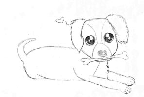 I drew a puppy for no reason. by Brashgirl901