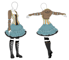 Outfit Adopt - Steampunk Alice - SOLD by ShadowInkAdopts