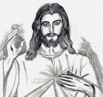 Jesus blessing / pencil 2 by Zakharii