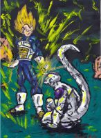 Super Vegeta V.S Frieza by vanouka