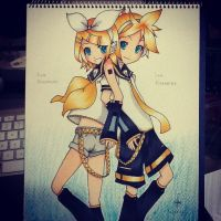 Kagamine Twins by frostdevils