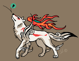 Mspaint Okami by TheMysticWolf