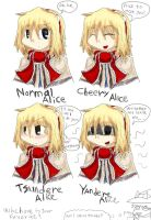 The Four Faces of Alice by RayXDGreatX