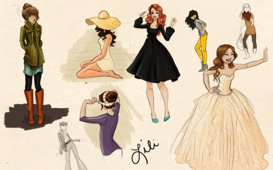 Pinspired Sketches by liliribs