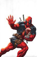 Deadpool 1st and 10 by GURU-eFX