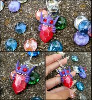 Pokemon Mega Evolution Sableye Eating Gem Necklace