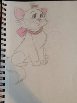 Marie Doodle The Aristocats by Boggin